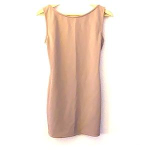 Trac Tan dress with chain open back -S